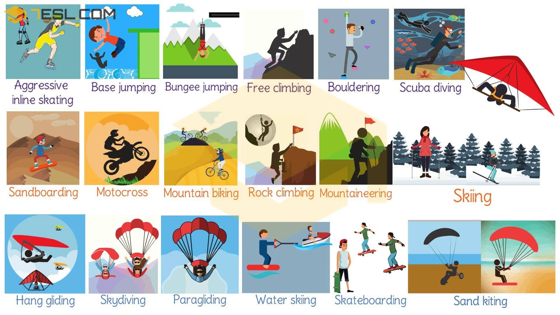 Extreme Sports List Of Adventure Sports With Pictures