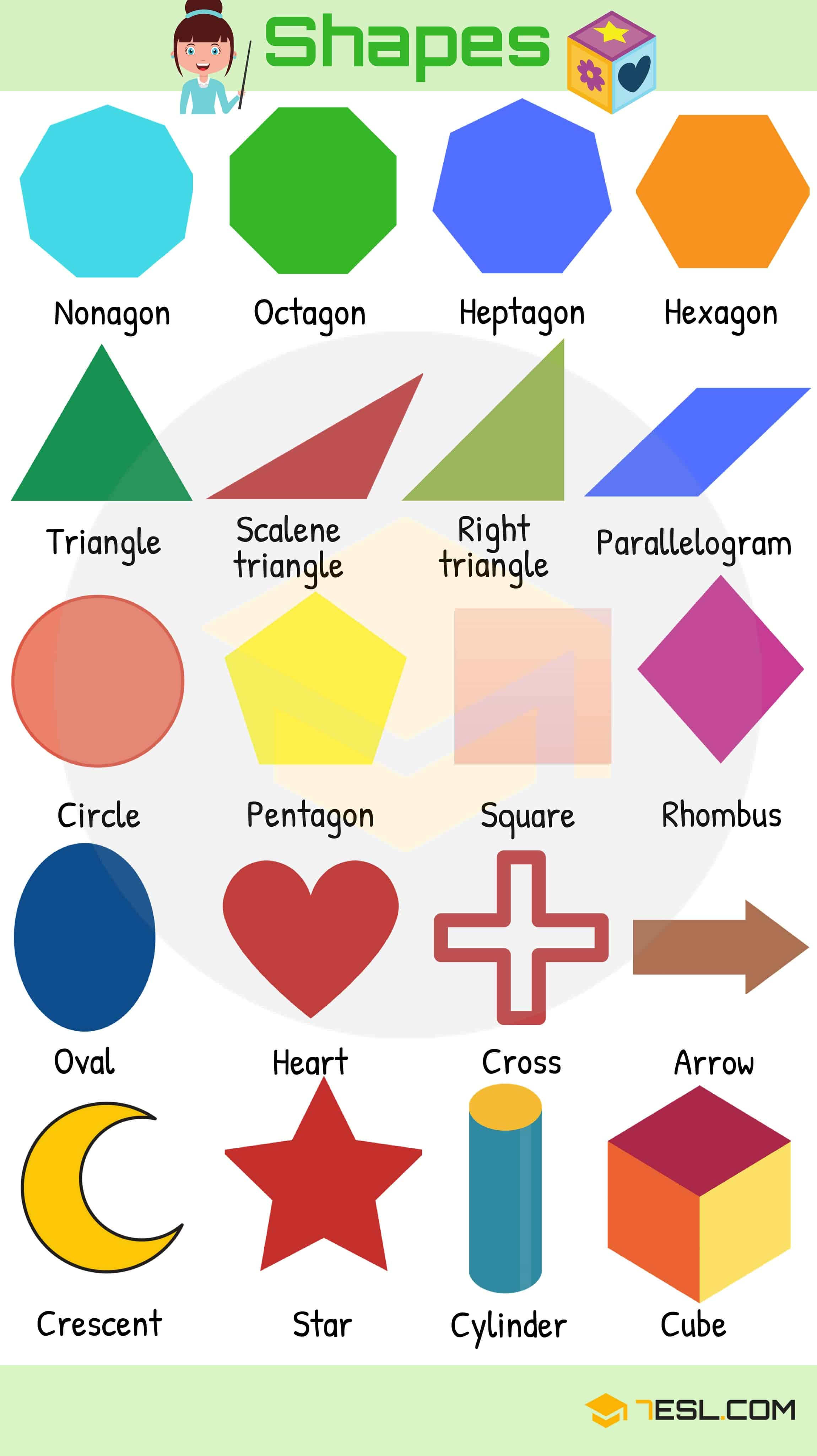 Colours And Shapes Vocabulary List Of Colours Amp Shapes