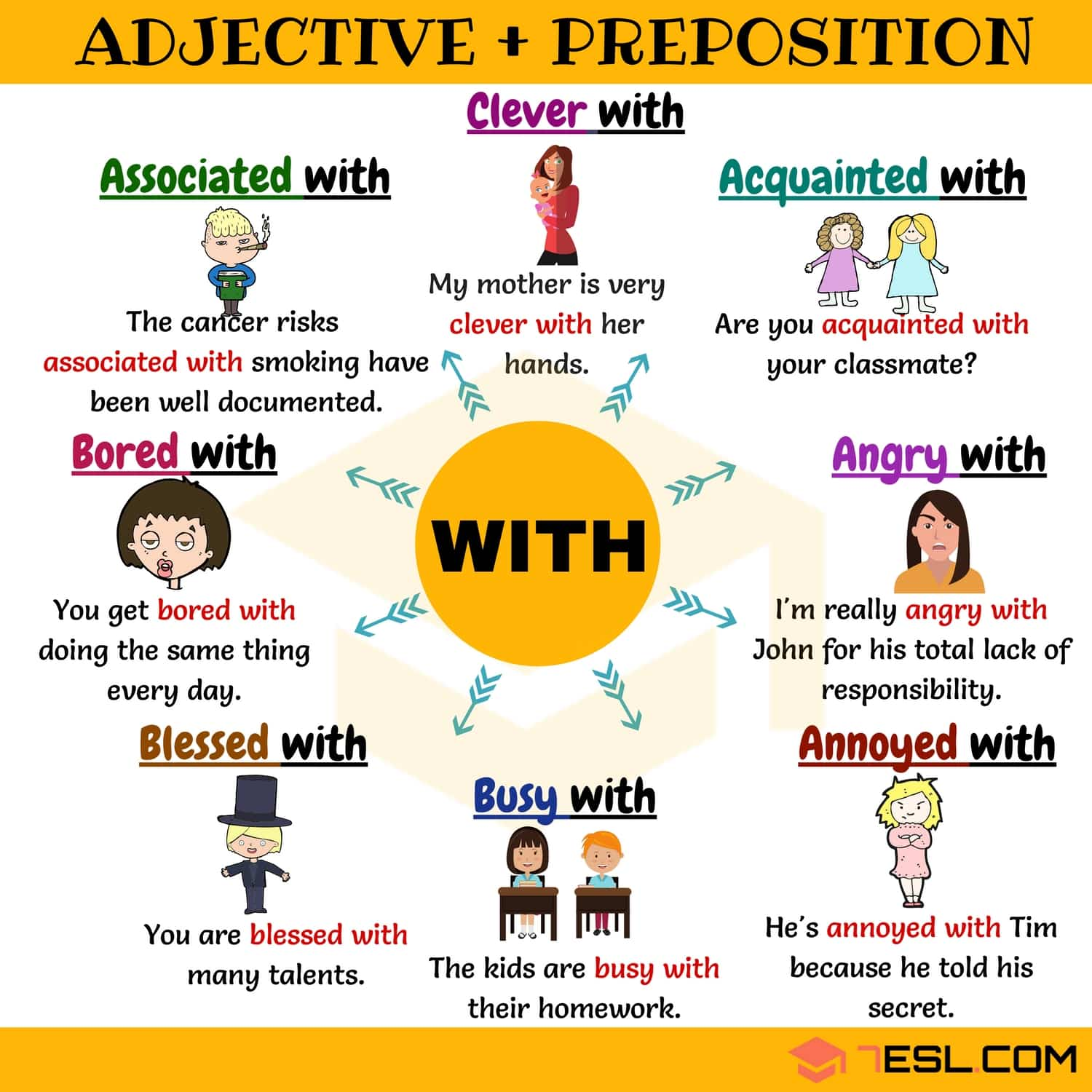 Adjective With 35 Useful Adjective Collocations With