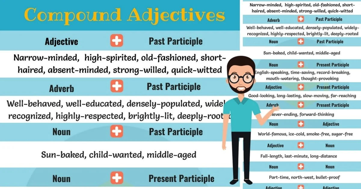 List Of Compound Adjectives Archives 7 E S L