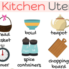 Kitchen Spoons Bookshelf Utensils Vocabulary In English Things The 7 E S L 1