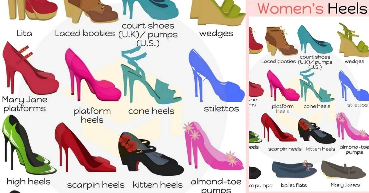 types of heels useful