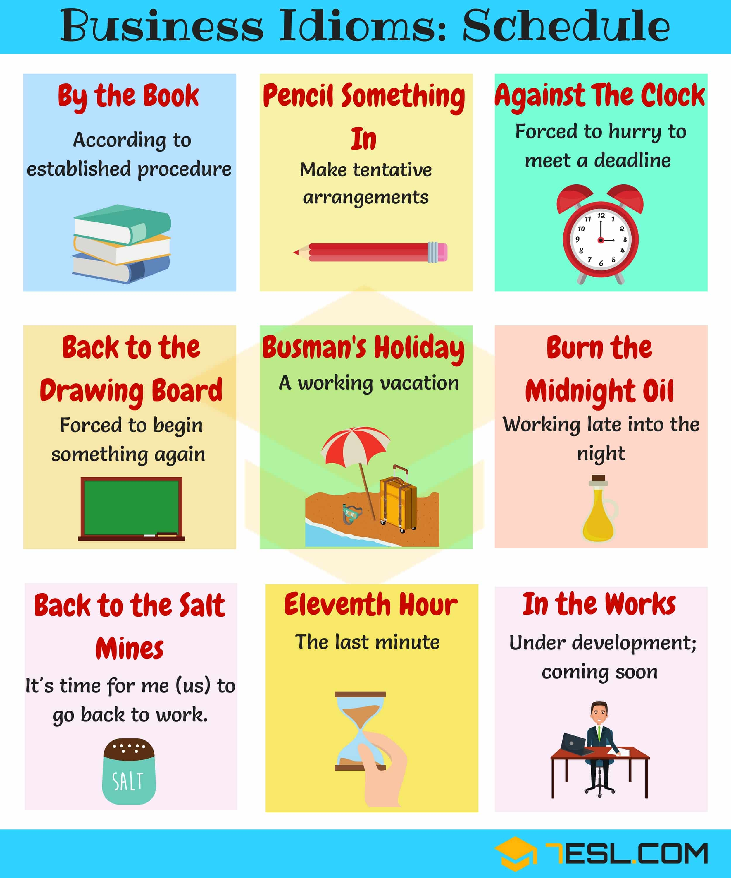 20 Phrases Amp Idioms About Schedules And Planning