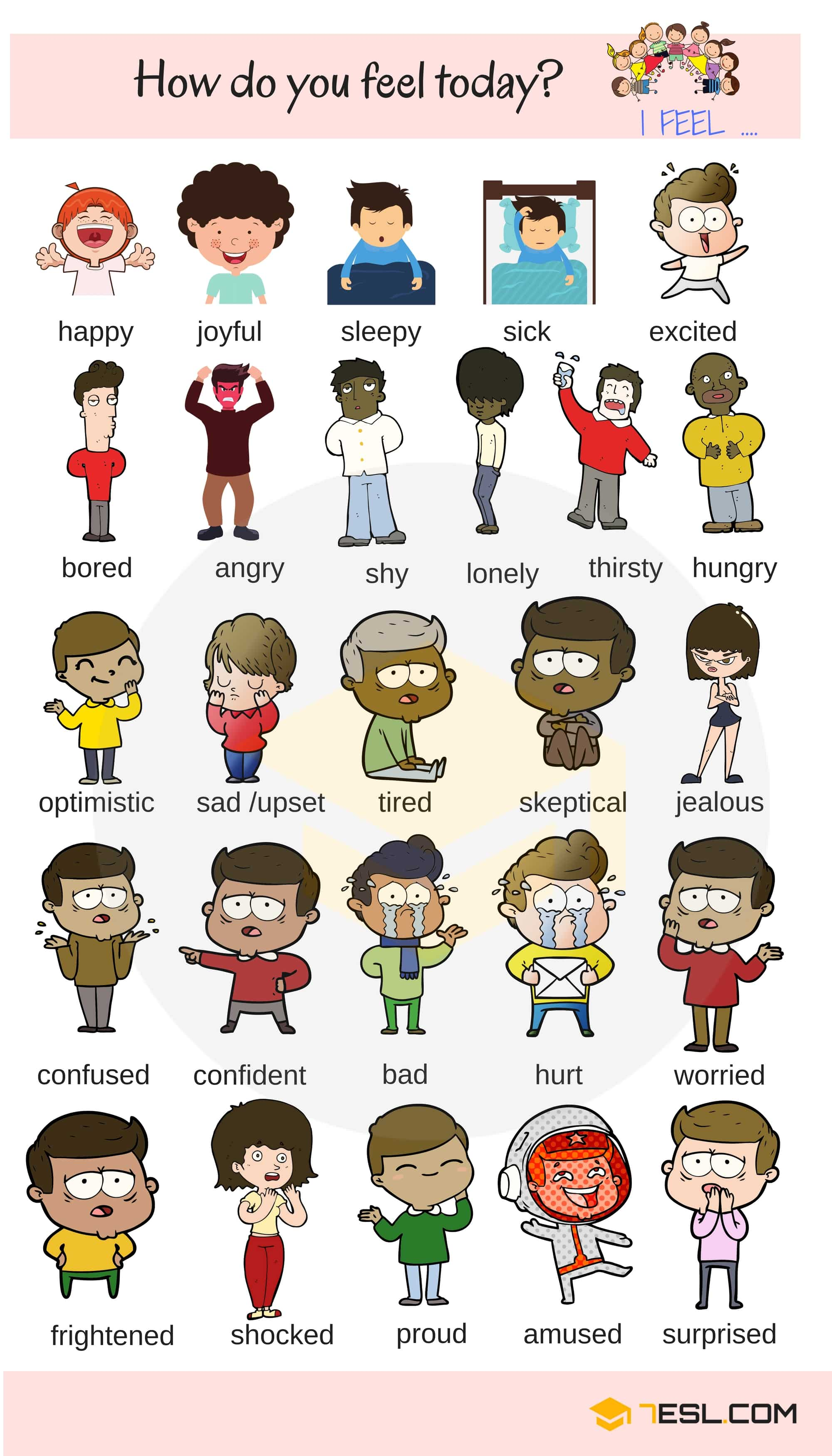List Of Emotions 60 Feeling Words And Emotion Words