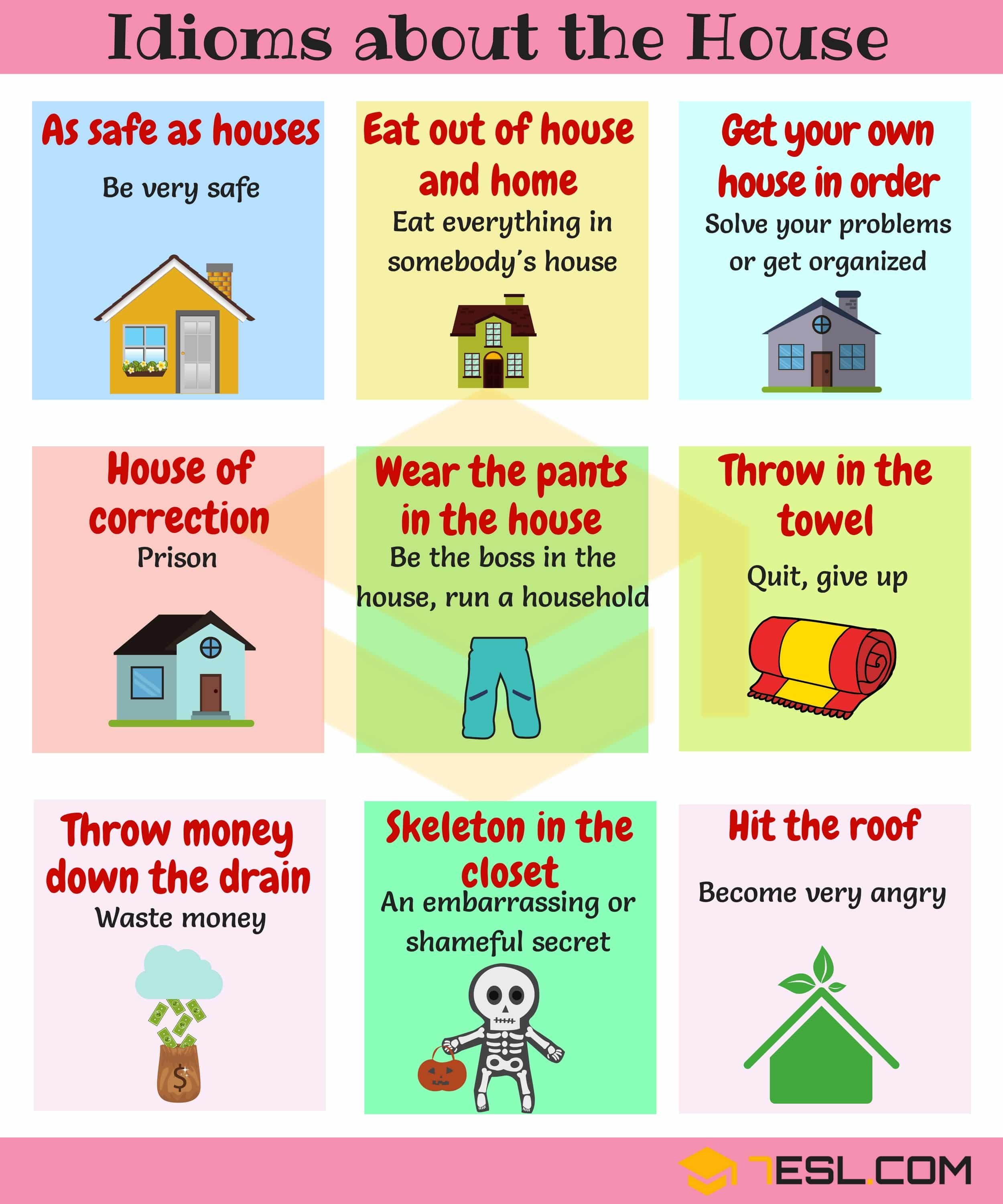 Home Idioms 28 Useful Idioms About The House And Home  7