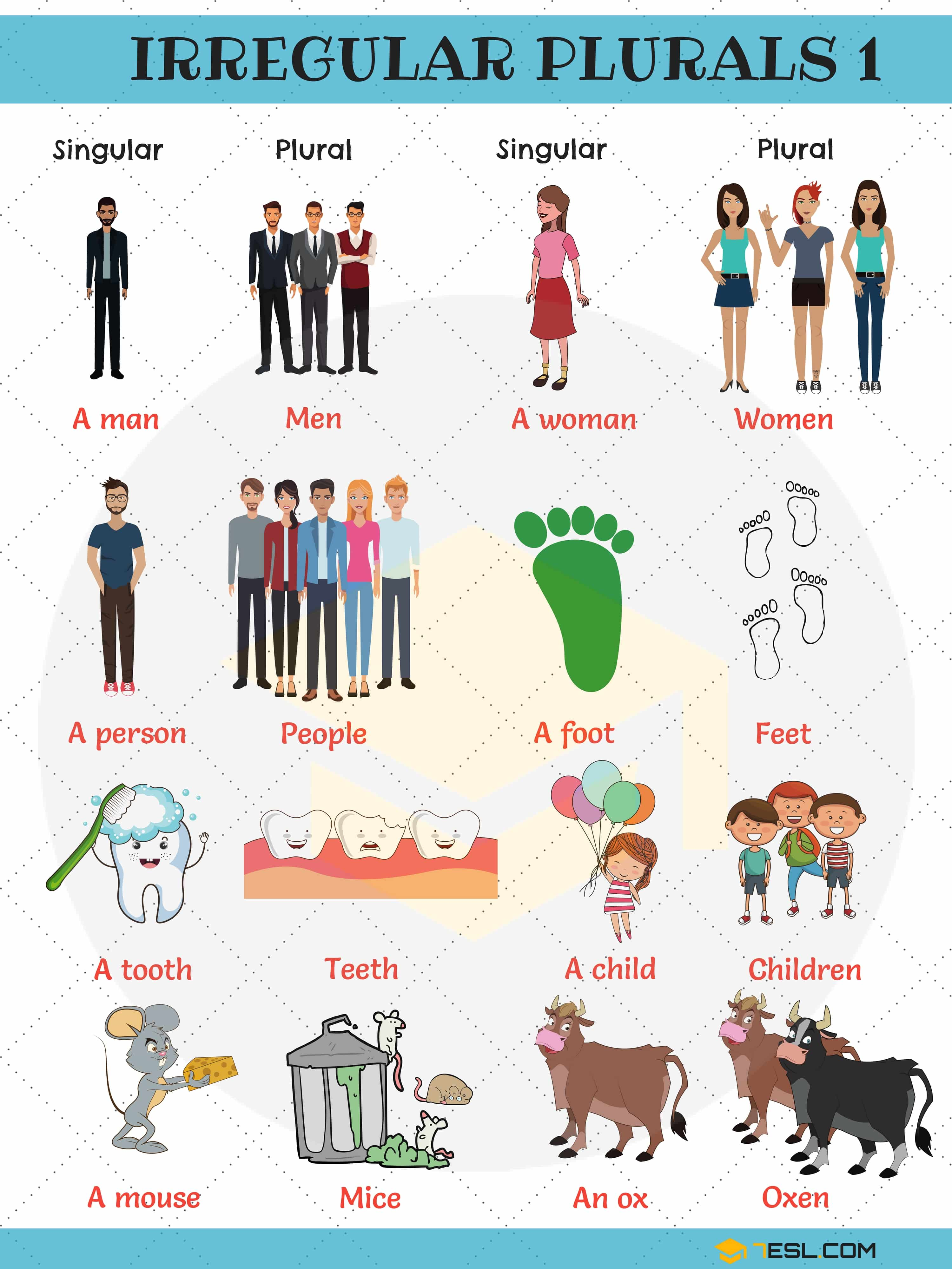 Irregular Plural Nouns Useful Rules List Amp Examples