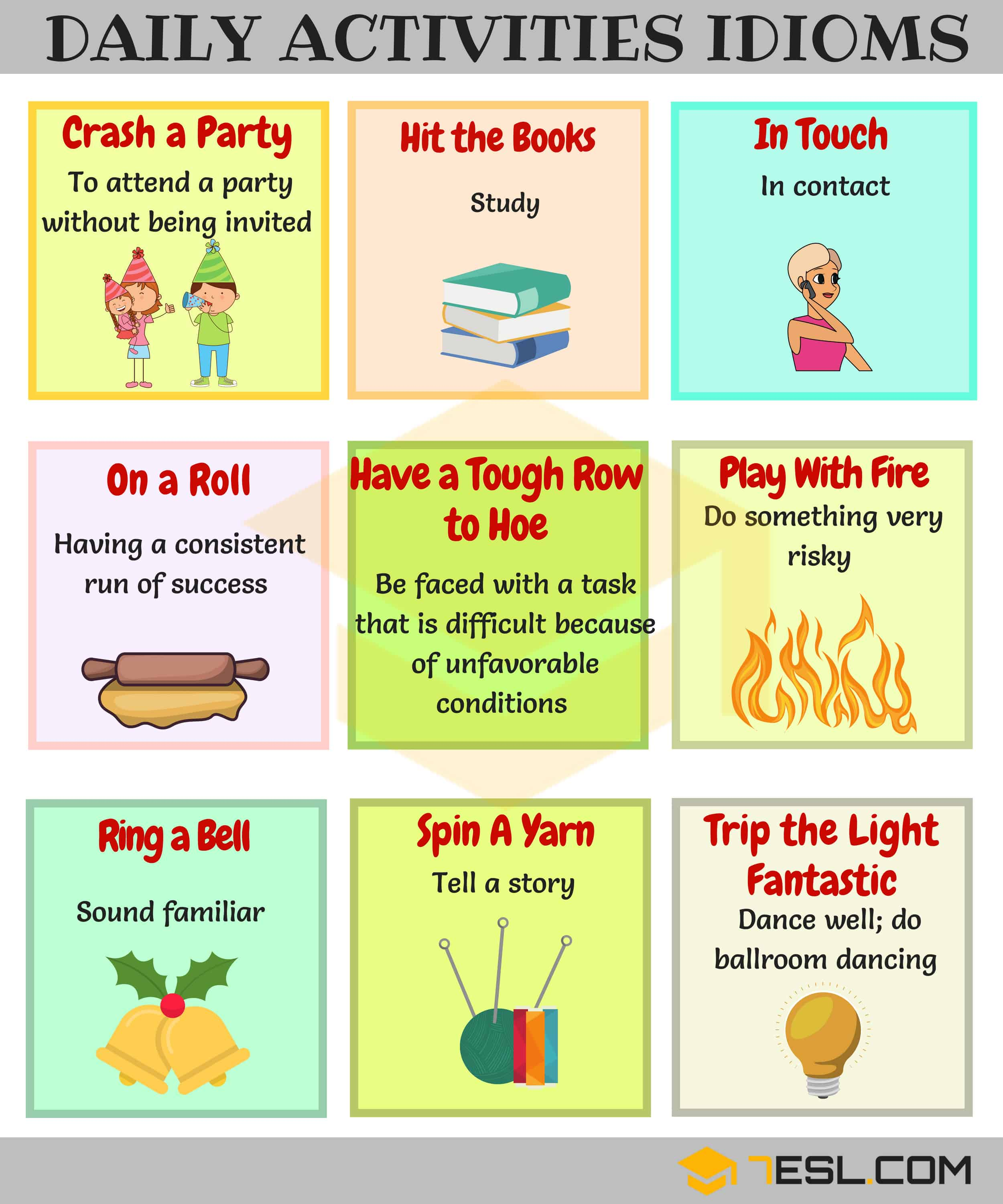 22 Useful Daily Routines Idioms And Expressions
