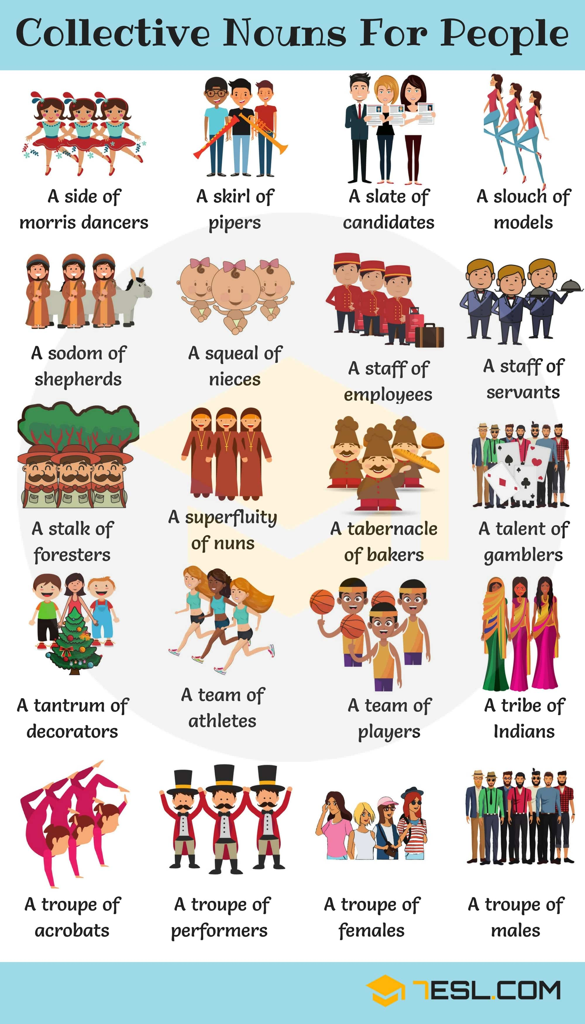 Groups Of People 200 Useful Collective Nouns For People