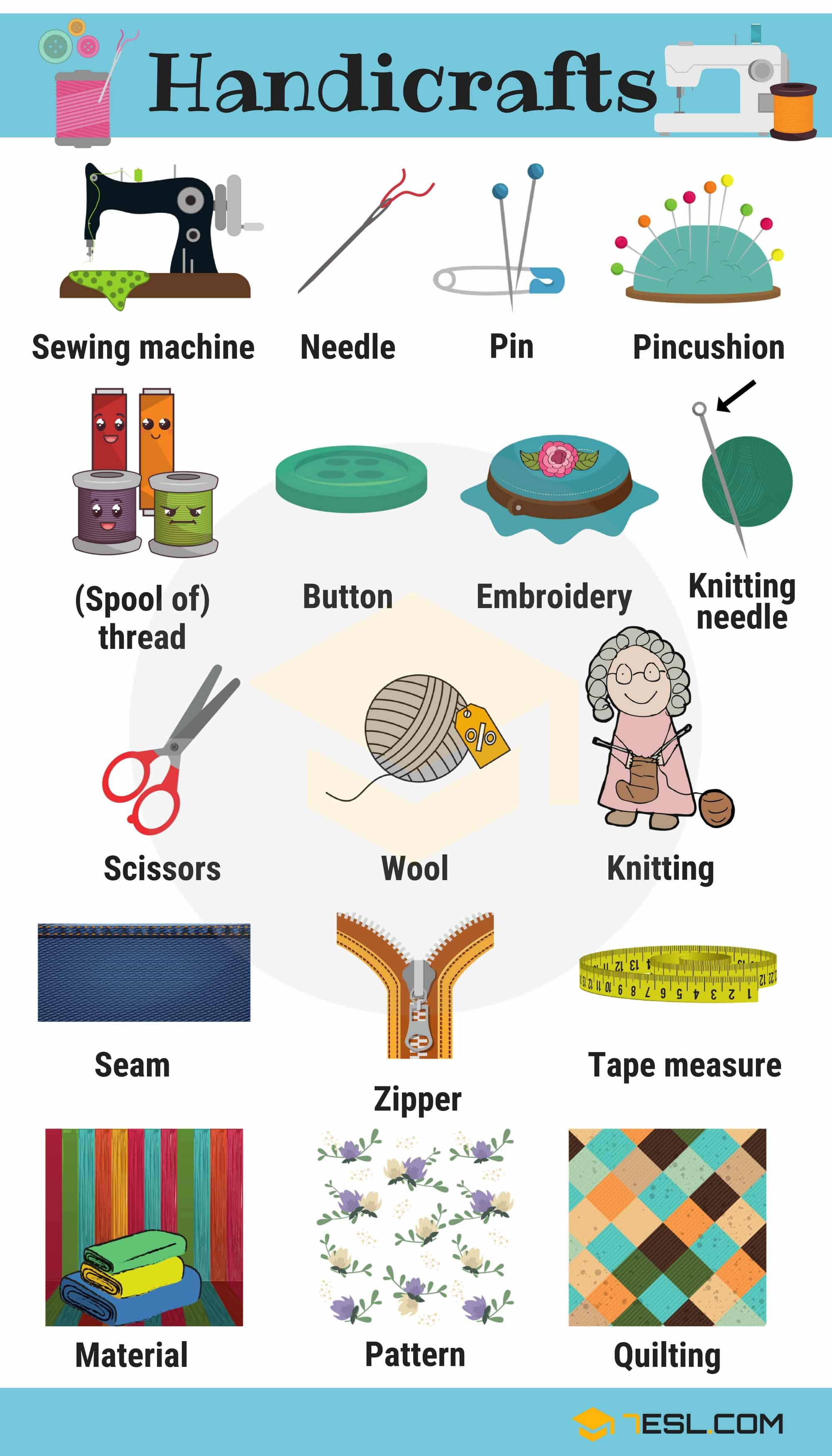 Handicraft Useful Handicraft Vocabulary With Pictures