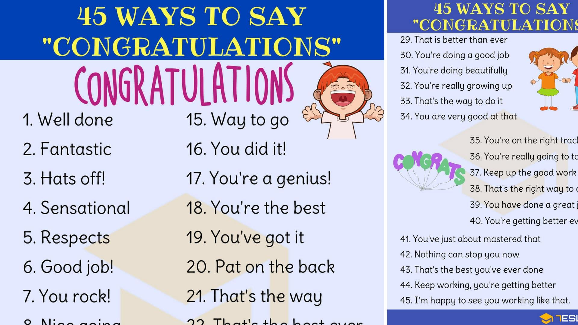 congratulations synonym 45 ways