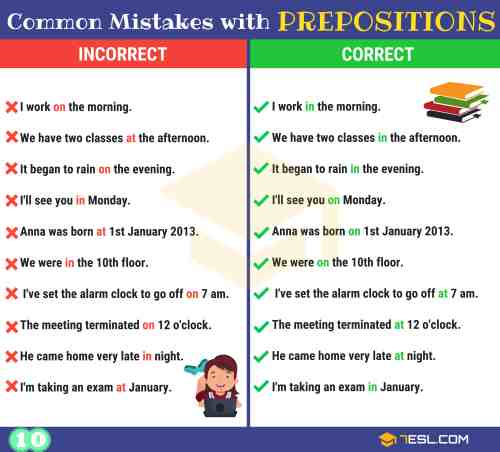 small resolution of Preposition Errors: 130+ Common MISTAKES With PREPOSITIONS • 7ESL