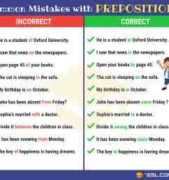Preposition Errors: 130+ Common MISTAKES With PREPOSITIONS • 7ESL [ 3800 x 4200 Pixel ]