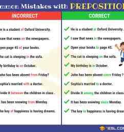 Preposition Errors: 130+ Common MISTAKES With PREPOSITIONS • 7ESL [ 3800 x 4200 Pixel ]