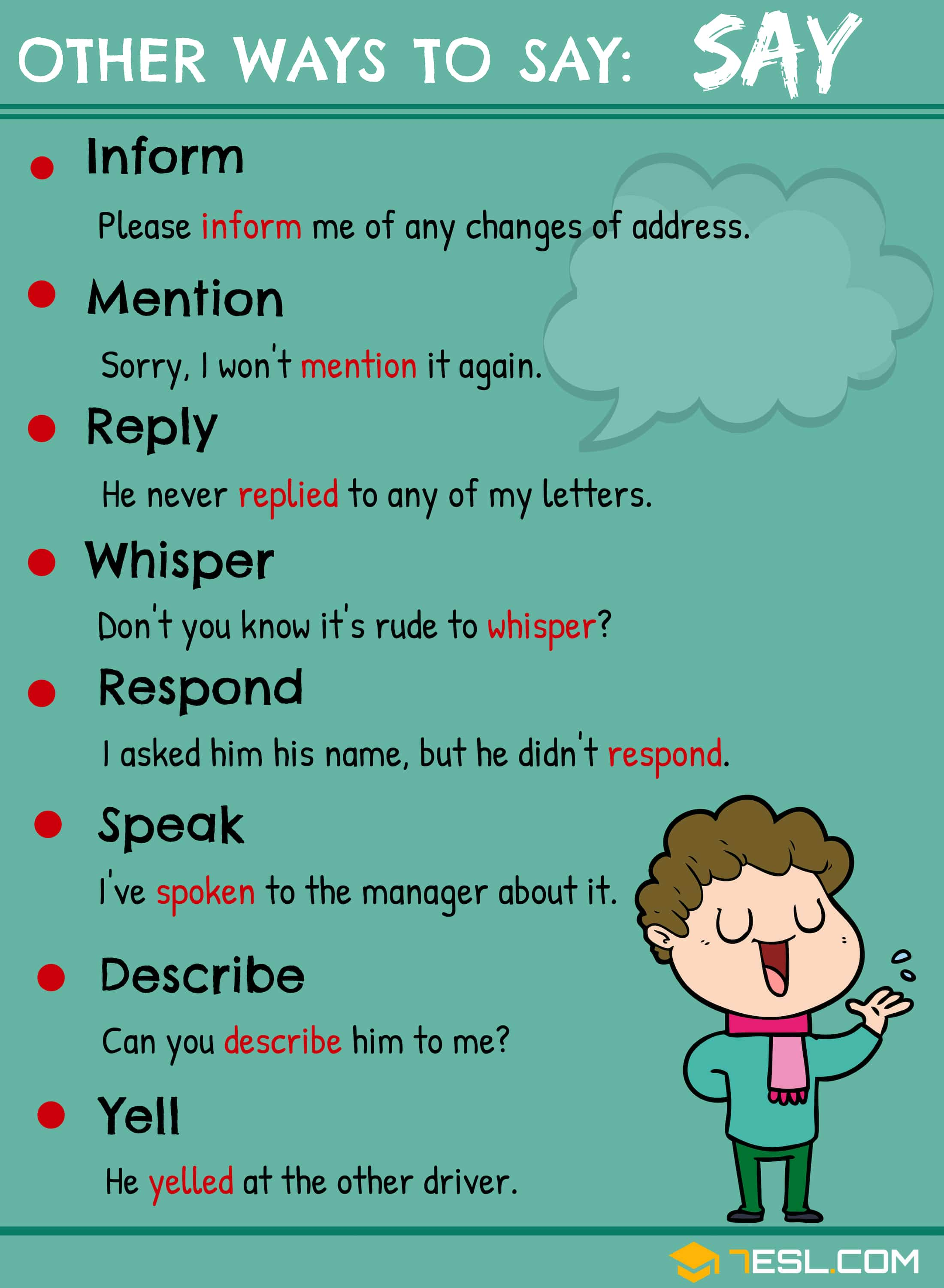 Synonyms For Say 15 Useful Say Synonyms In English