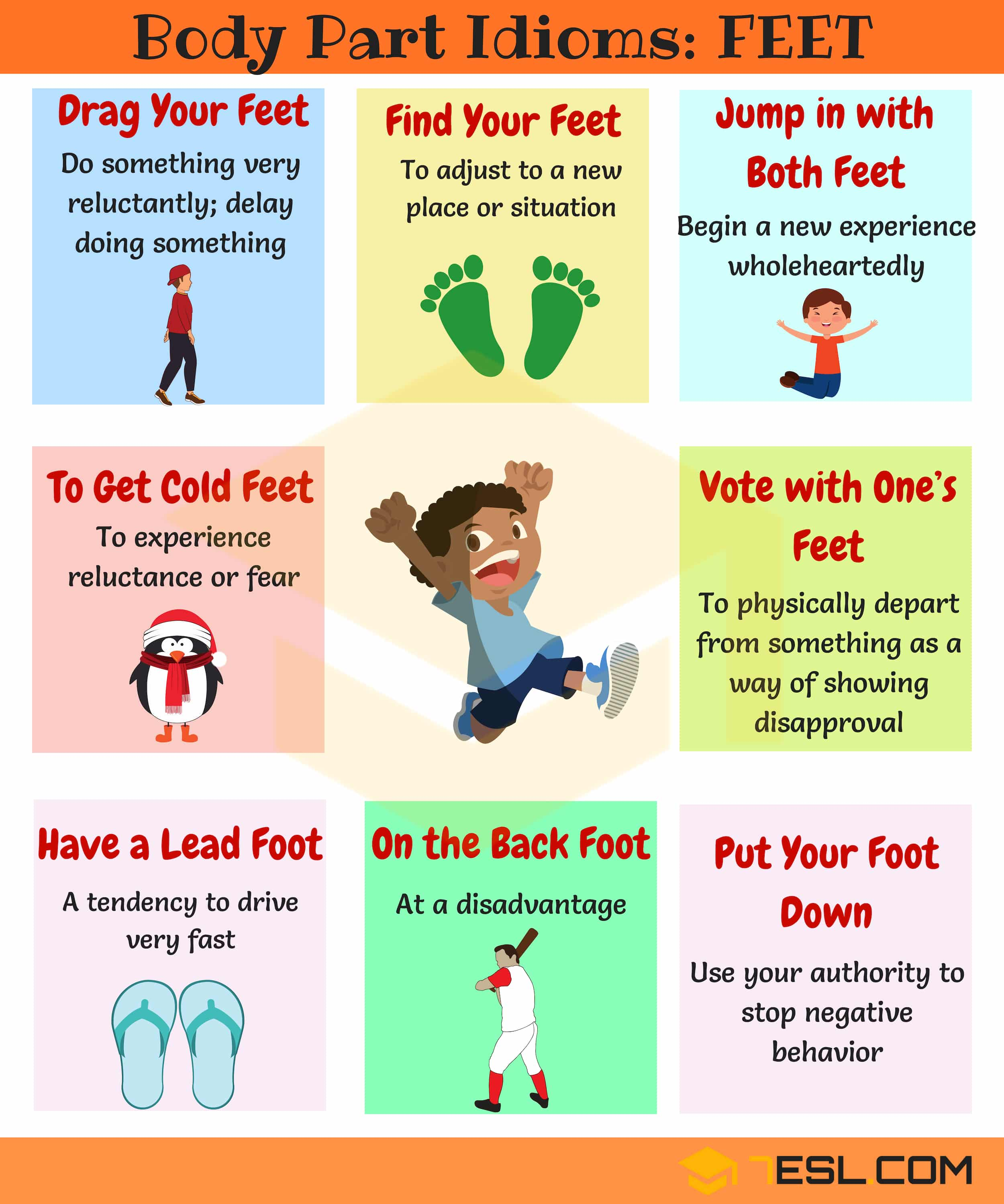 Foot Idioms Useful Phrases Amp Idioms With Feet In English