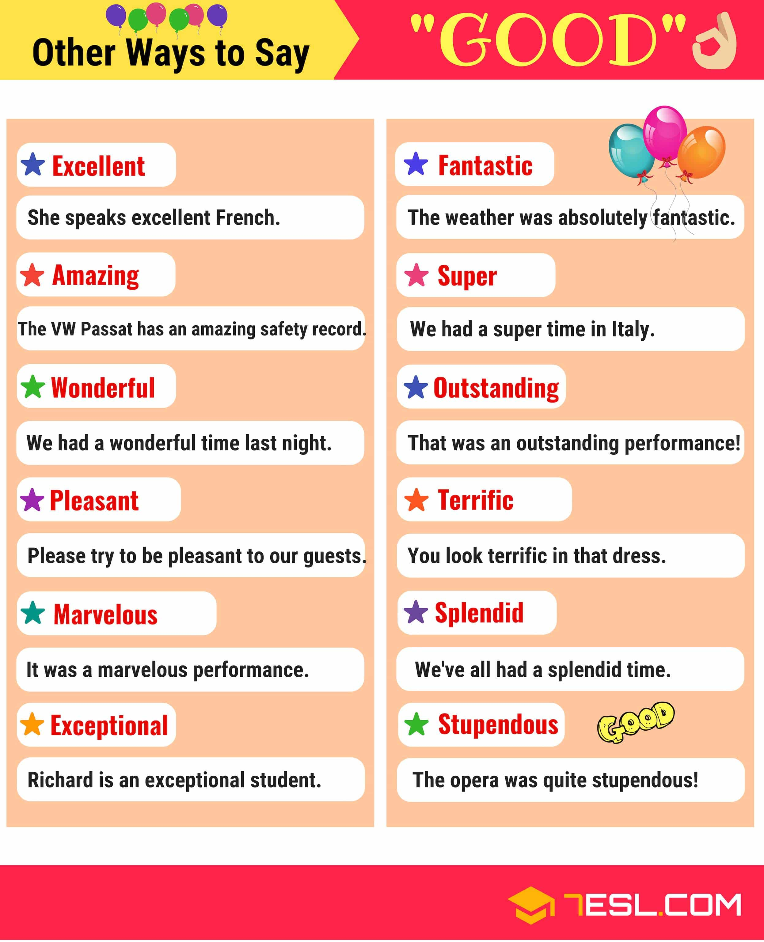 synonyms for good list