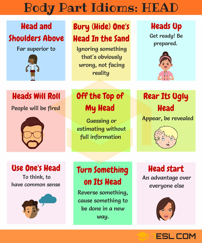 Head Idioms 10 Useful Head Idioms And Phrases