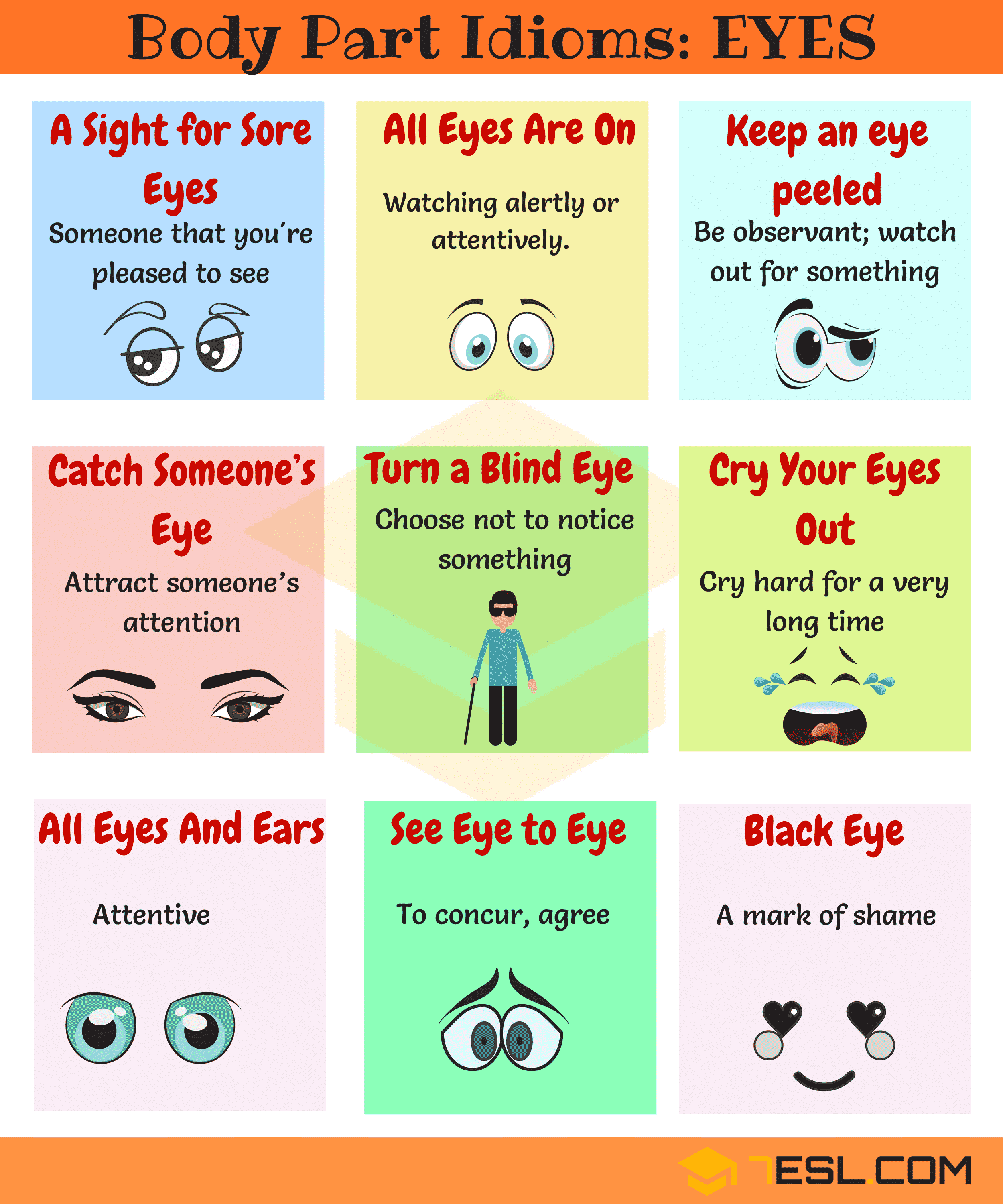 Eye Idioms 25 Useful Expressions Amp Idioms With Eyes