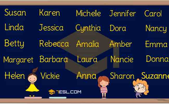 Girl Names 250 Most Popular Baby Girl Names With Meaning 7 E S L