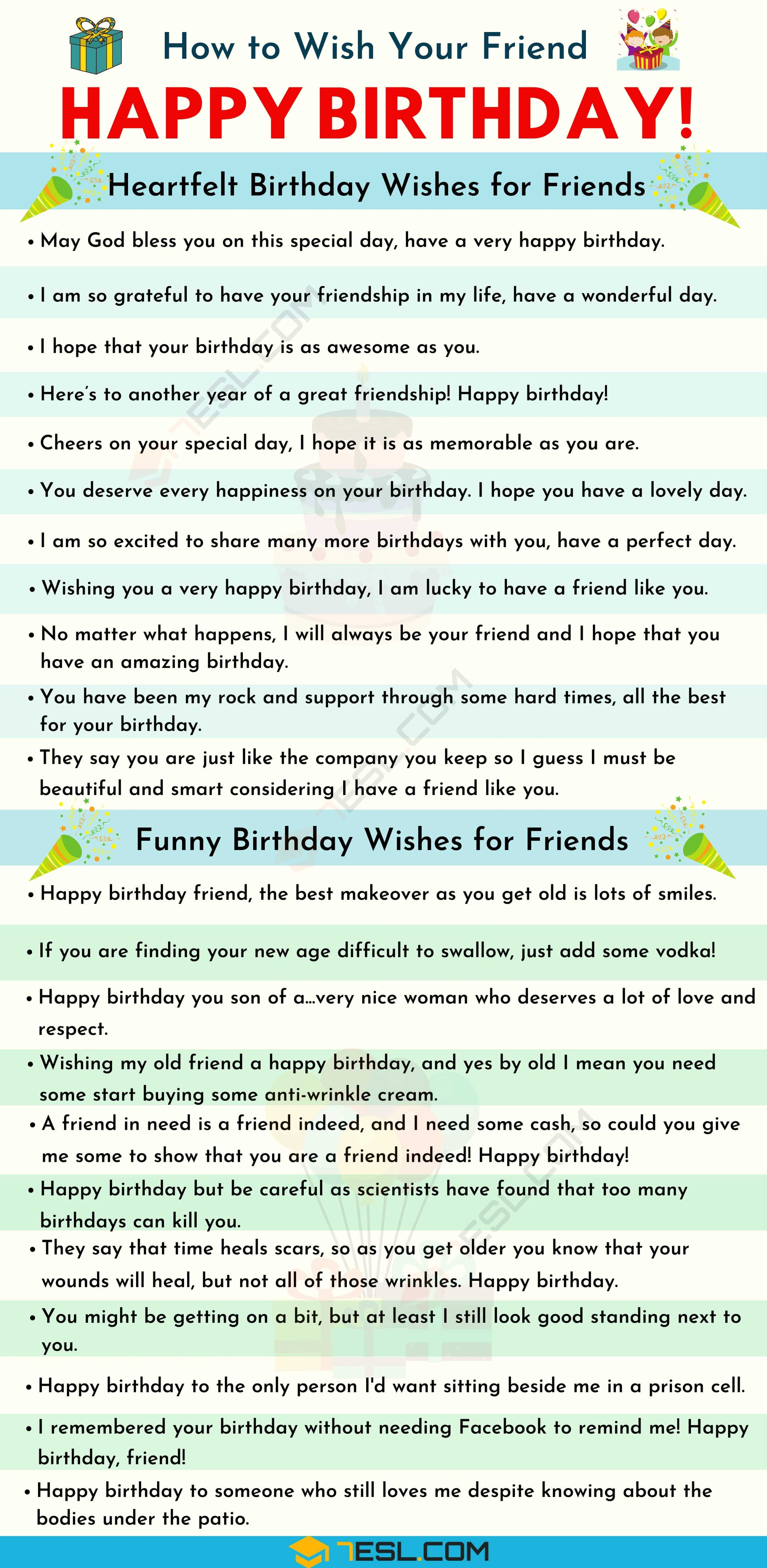 Funny Letter To Best Friend On Her Birthday : funny, letter, friend, birthday, Happy, Birthday, Friend:, Heartfelt, Funny, Wishes, Friends