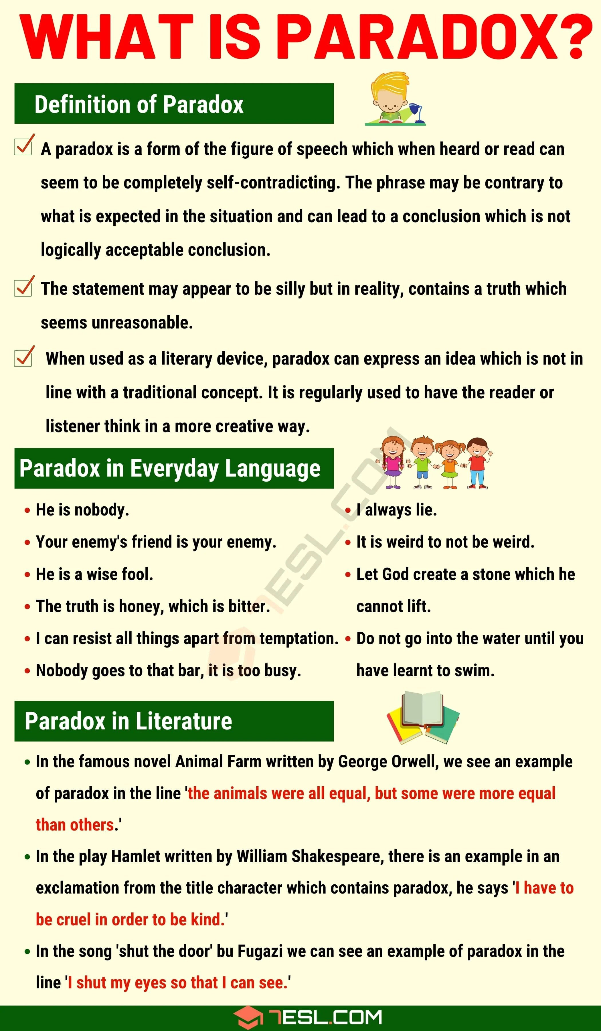 Paradox Definition And Examples Of Paradox In Speech And