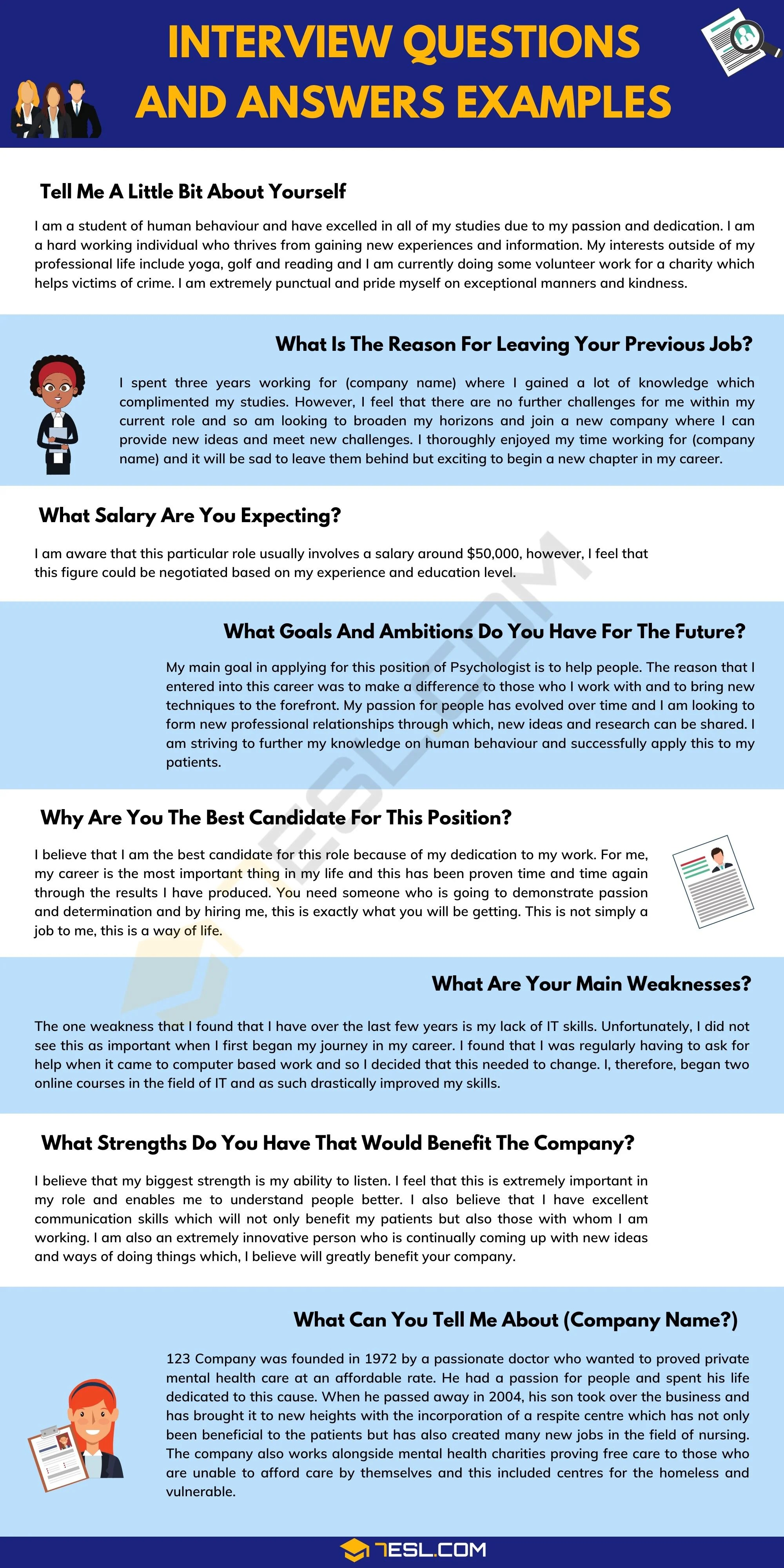 How To Answer The Most Common Interview Questions With