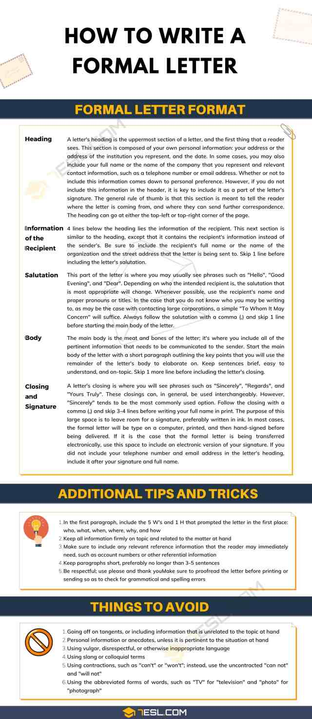 How to Write a Formal Letter in English: Useful Tips, Tricks and