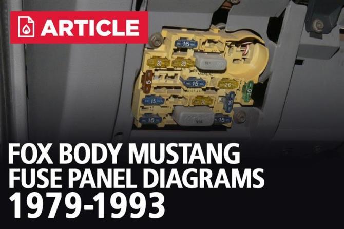 fox body mustang fuse panel diagrams  19791993  lmr