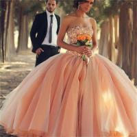 New 2015 Charming Peach Color Cheap Quinceanera Dresses ...