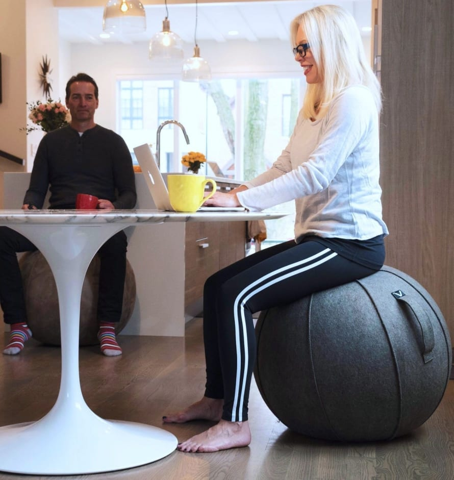 Yoga Ball Desk Chair Vivora Luno Self Standing Sitting Ball Chair For Home Office