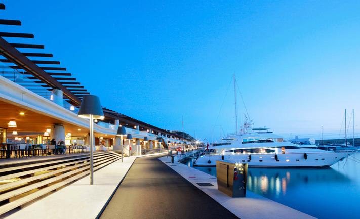 Port Adriano marina designed by Philippe Starck