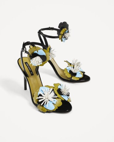 High Heel Sandals With Floral Details, $69.90 at Zara