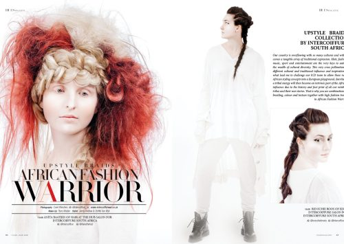 Upstyle Braids – African Fashion Warrior by Intercoiffure South Africa for 7Hues Hair