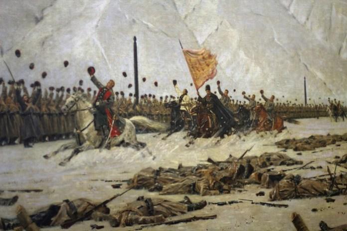 Одержана победа русских войск и болгар под Шипкой над турецкой армией