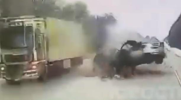 Момент смертельного ДТП под Рязанью попал на видео