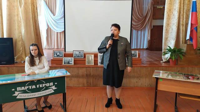В Кораблинском районе открыли «Парту Героя» в честь педагога