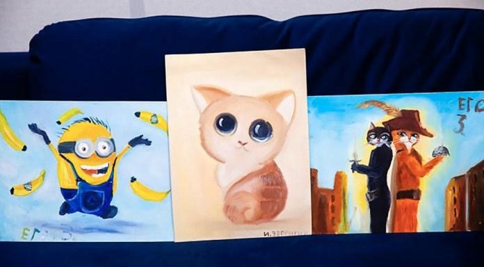 Рисует и продаёт картины: в Тюмени мальчик помогает маме платить ипотеку