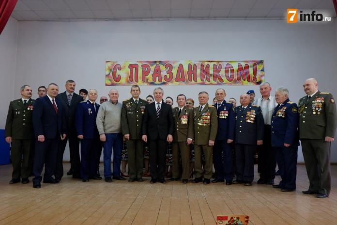 В рязанском техникуме прошёл праздничный концерт ко Дню защитника Отечества