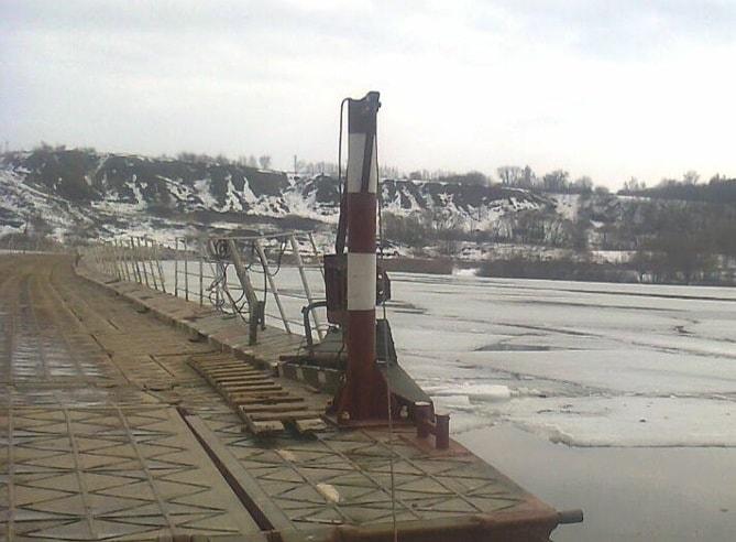 В Спасском районе закрыли движение по понтонному мосту