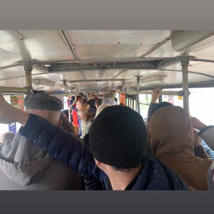 Рязанцы пожаловались на давку в общественном транспорте