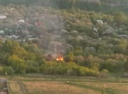 В Рязани горела дача