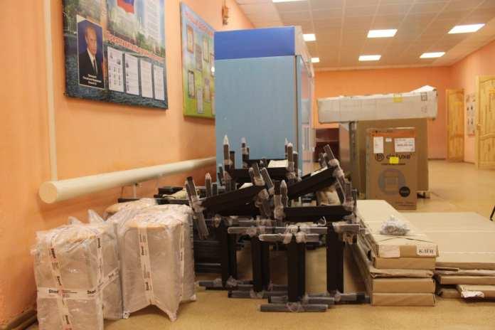 В школу Скопинского района завезли новое оборудование для столовой