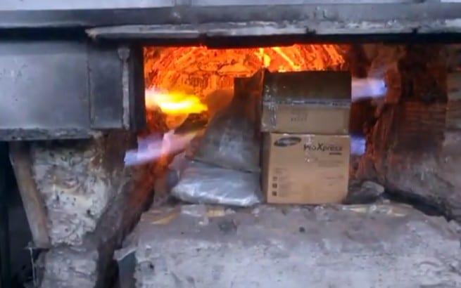 В Рязани сожгли в печи около 39 килограммов наркотиков