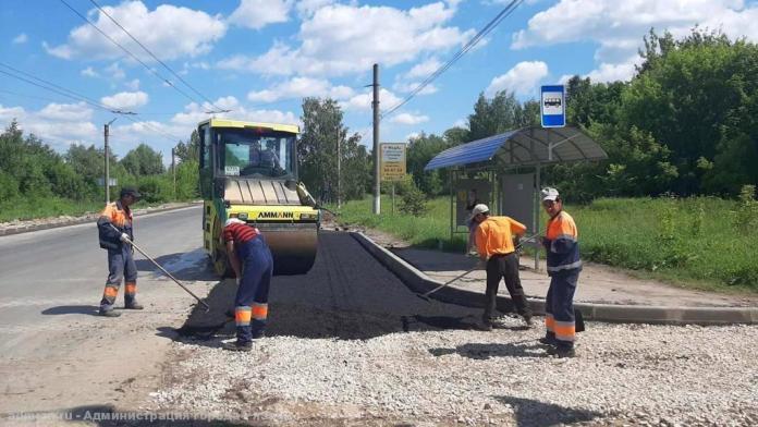 В Рязани ремонтируют дороги на трёх улицах