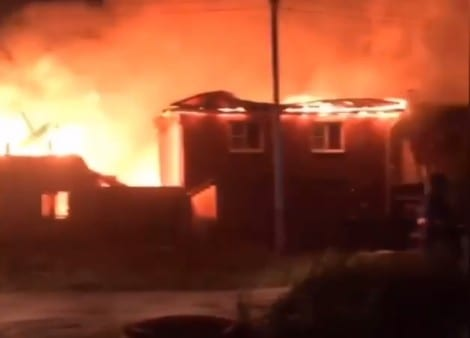 Ночью в Семчино сгорели несколько домов