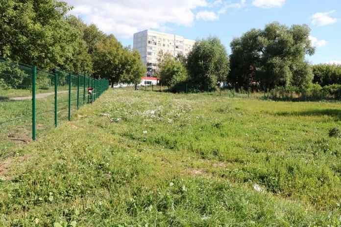 В одном из рязанских дворов обустраивают площадку для выгула собак