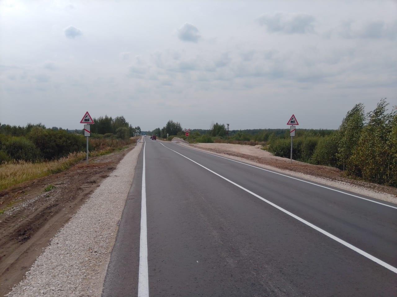 В Касимовском районе с опережением графика отремонтировали участок дороги