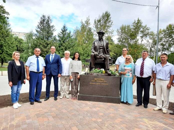 В Рязанской области появился памятник Мичурину