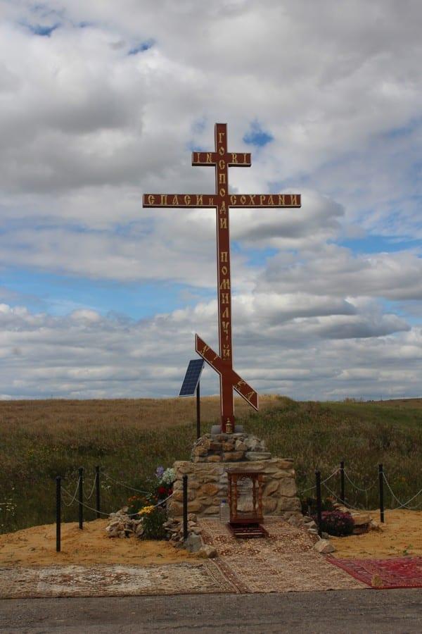 В Ильинке освятили Поклонный Крест
