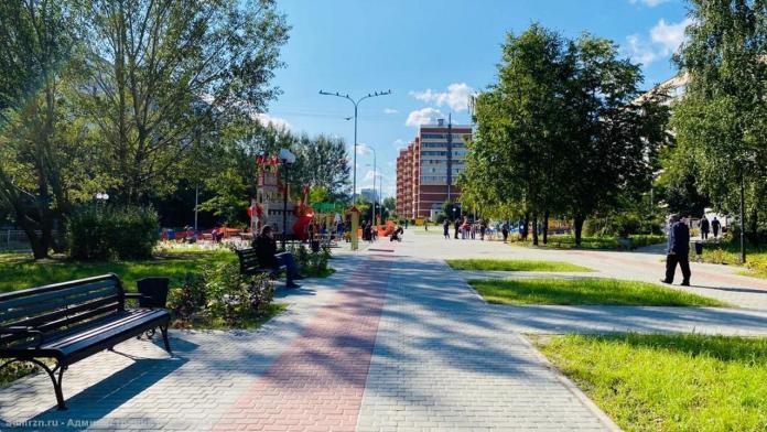 В Рязани завершается благоустройство сквера имени Скобелева